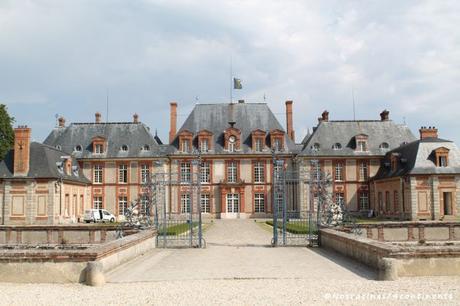Notre arrivée sur le site du château de Breteuil