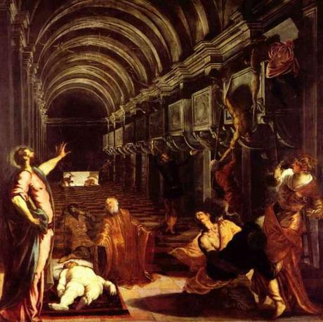 La Découverte du corps de Saint Marc, vers 1562, par Le Tintoret (1518-1594) Milan, Pinacothèque Brera