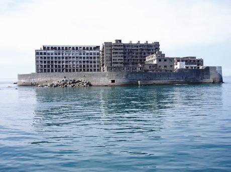 Hashima, vue de la mer