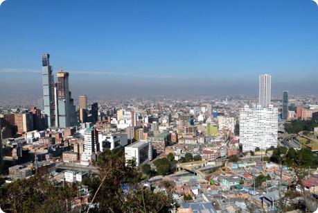 vue sur Bogotá depuis le cerro de Guadalupe