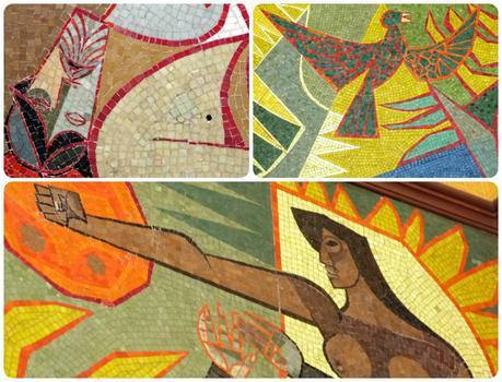 détails de la mosaïque du Palacio Presidencial de Quito