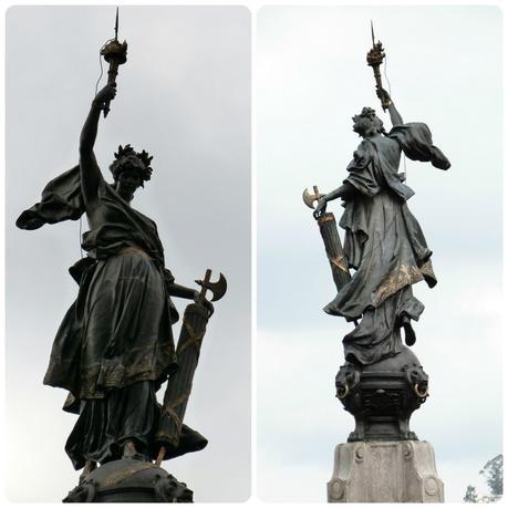 sculpture en haut du monumento de la independencia de Quito