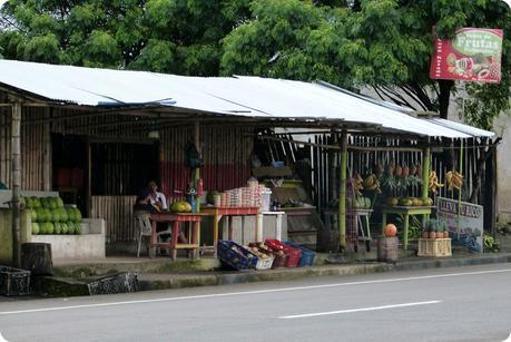vente de fruits sur le côté de la route vers Pedernales