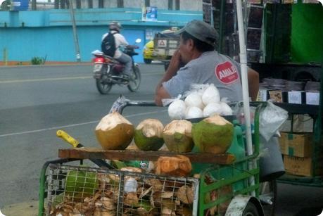 Vendeur de noix de coco à Santo Domingo de los Colorados