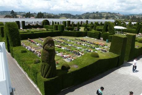 vue sur les tombes du cimetière de Tulcán
