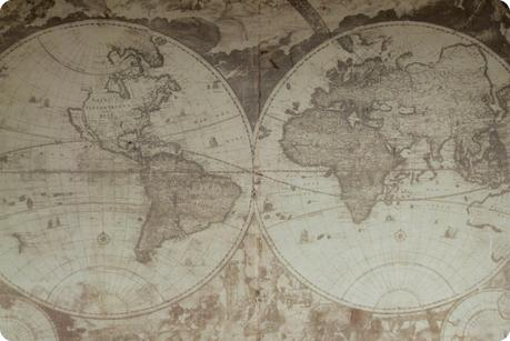 planisphère sur un mur du musée arquidiocesano de Popayán