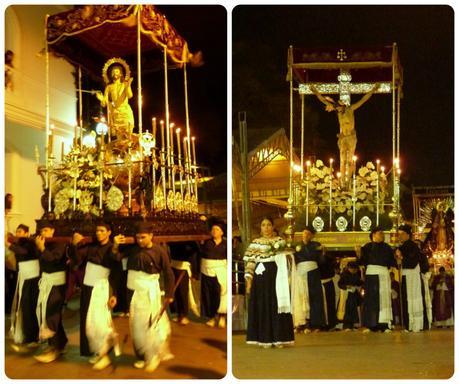 pasos du mardi saint durant le défilé de la Semana Santa de Popayán