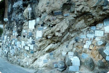 épitaphe sur un mur du Santuario de las Lajas de Ipiales