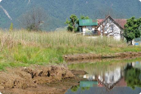 maison à la lagune de la Cocha à Pasto