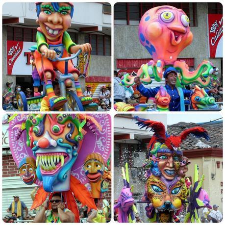 personnages au carnaval de Pasto