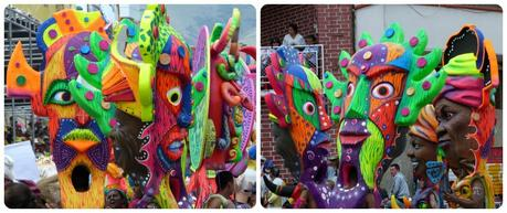 femmes avec des masques au carnaval de Pasto