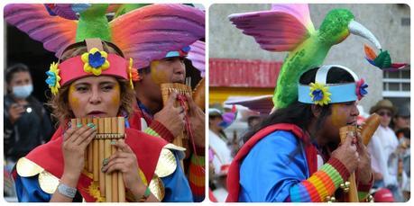 flûtistes au défilé du carnaval de Pasto