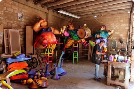 atelier de fabrication du carnaval de Pasto