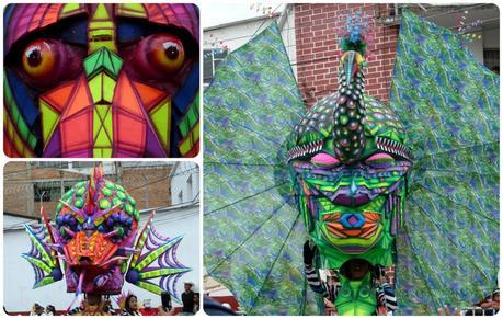 paon au défilé du carnaval de Pasto