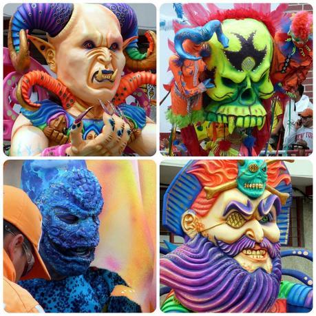 4 personnages mauvais au carnaval de Pasto