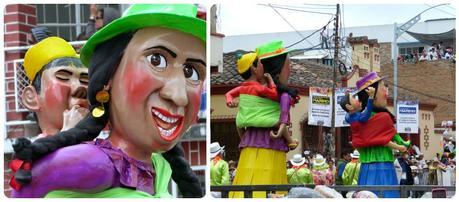 personnages maman et son fils au carnaval de Pasto