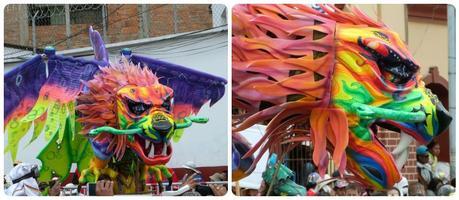 dragon au défilé du carnaval de Pasto