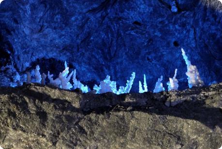 stalagmites de sel à la mina de sal de Nemocón