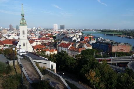 bratislava château vue panorama vieille ville danube centre