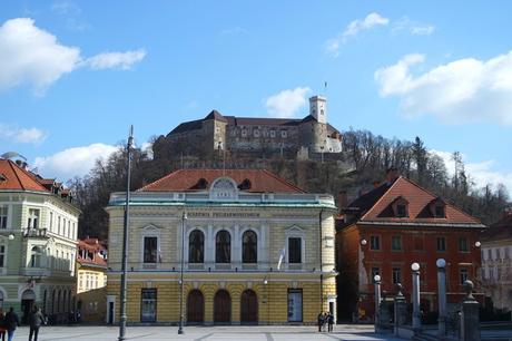 ljubljana place congrès Kongresni Trg château Philharmonie