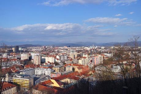 ljubljana château vue panorama