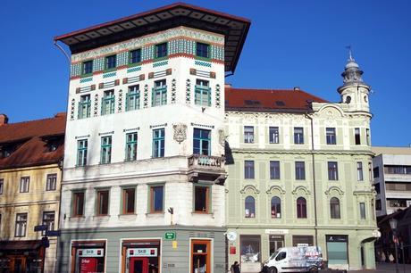 ljubljana Prešernov trg art nouveau maison hauptmann