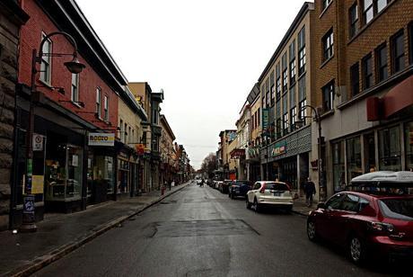 La rue St-Joseph au petit matin.