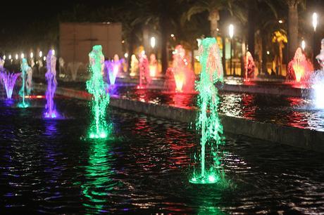Fontaine lumineuse à Salou