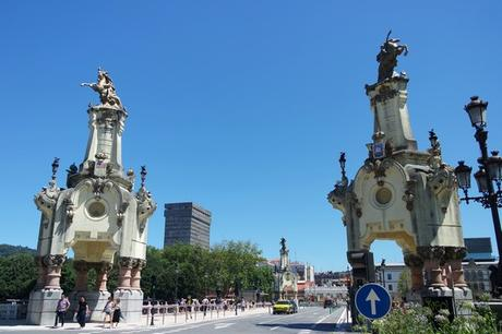 espagne pays basque san sebastian centre-ville pont maria cristina