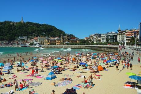 espagne pays basque san sebastian plage concha