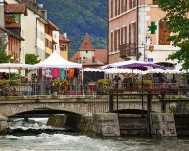 Flânerie-découverte du marché à Annecy